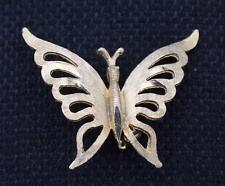 Vintage Signed MAMSELLE Goldtone BUTTERFLY Pin Brooch