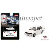 MINI GT MGT00041 BMW M3 E30 1/64 DIECAST MODEL CAR WHITE