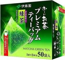ITOEN Premium Triangle Tea Bag 50pcs Pure Japanese Green Tea with Matcha