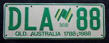 """Nummernschild Australien aus Queensland 200 Jahre """"1788 - 1988"""". S-3792."""