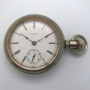 Antique 1906 Elgin Grade 316 Open Face Pocket Watch 15 Jewel 18s Sidewinder