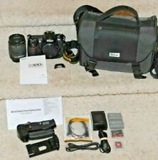Nikon D300S 12.3 MP Digital SLR Camera 18-200mm MB-D10 Kit Bundle Low Shutter #