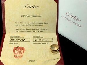 Certified Cartier 18K three tone rolling ring..sz 6..4.1gm..