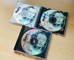 CorelDraw 8.0 3 CD's Schriften Bilder Clipart mit Seriennummer