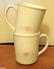 CORNING CORELLE FOREVER YOURS OLD STYLE STRAIGHT SIDED MUGS, 2, EXC
