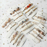 3PCS Fashion Pearl Hair Clip Hairband Comb Bobby Pin Barrette Headdress Hairpin