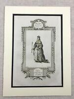 1791 Stampa Mary Regina Di Scots Ritratto Inglese Royal Originale Antico Inciso