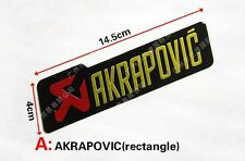 AKRAPOVIC 3D STICKER Exhaust Pipe Labels Motorcycle Badge Emblem Logo Decal