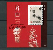 Grenadines Grenada 2014 MNH Qi Baishi 150th Anniv Birth 1v S/S II Birds