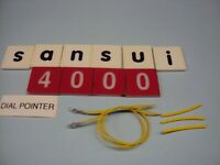 Sansui 4000 Receiver Replacement Dial Pointer Lamps & Heat Shrink. Lamps are New