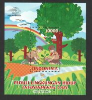 INDONESIA 2017 ENVIRONMENTAL CARE (TREE PLANTING) SOUVENIR SHEET OF 1 STAMP MINT