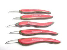 Ramelson Wood Carving Tools Chip Knife Set 5pc Whittling Woodworking Tools