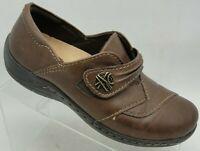 Earth Kalso 7 Brown Slip On Flats Women's Loafers Shoe Horsebit Savin Bark