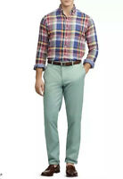 Polo Ralph Lauren Mens 36*30 Stretch Straight Fit Faded Mint Green Chino Pant