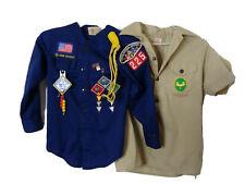 Florida Boy Scout Cub Uniform Shirts Patches Webelos Ross Allen Camp Blanding