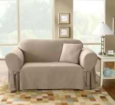 SureFit  Cotton Duck Sofa Slipcover, Linen