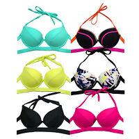 Victoria's Secret Swim Top Banded Hottie Halter Push Up Padded Bikini Swimsuit
