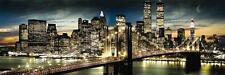 Nueva York: la noche y Luna-Midi cartel 91.5cm X 30.5cm (nuevo Y Sellado)