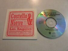 COSTELLO & NIEVE LIVE AT THE TROUBADOUR LOS ANGELES 4 TRK PROMO CD IN SLEEVE OOP