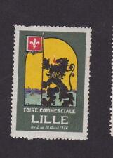 Ancienne vignette étiquette timbre France BN33221 Foire Commerciale 1926 Lille