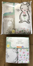 George Baby Bunny Rabbit Cot/Cotbed 100% Cotton 4 tog Quilt & Fitted Sheet Set