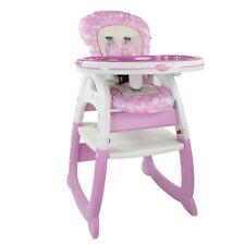 Evezo Merly Baby High Chair, Convertible Play Table and Feeding Tray, 3-in-1