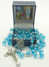 Crystal Bernadette Rosary Beads & Rosary Box FROM LOURDES - Catholic Gift Shop
