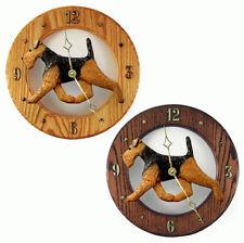 Welsh Terrier Wood Clock