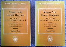 Magna Vita Sancti Hugonis: The Life Of St Hugh Of Lincoln (2 V. Set)/1st Ed/1985