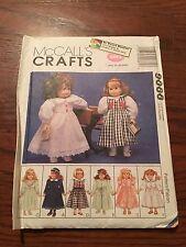 "McCalls 9066 18"" Doll Clothes PATTERN Bathrobe Slippers Coat Hat UNCUT"