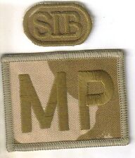 ROYAL MILITARY POLICE DESERT MP PATCH WITH SIB tab