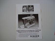 advertising Pubblicità 1972 MACCHINA PER CUCIRE SINGER ASTROMATIC
