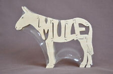 Mule Wood Puzzle Amish Made Scroll Saw Tack Room Toy New