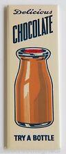 Chocolate Milk FRIDGE MAGNET (1.5 x 4.5 inches) soda push sign drink bottle