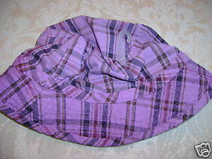 NWT children's easter patchwork plaid purple sun hat 18 24 birthday mothers day