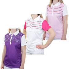 Short Sleeve Polo Casual Striped Tops & Blouses for Women
