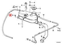 Genuine BMW CMSP E30 Cabrio Radiator Expansion Tank Pipe OEM 17112225396