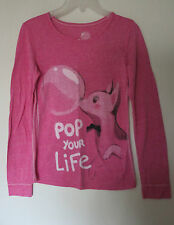 ETAM T-SHIRT MANCHES LONGUES POP TAILLE XS ROSE CHINÉ POPPY DOGGY