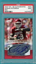 2007 SAGE Adrian Peterson RC! Auto Issue - #A41 PSA 9! Vikings! RED! POP 1!