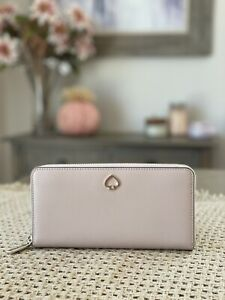 NWT Kate Spade New York Adel Large Leather Continental Wallet in Warm Beige
