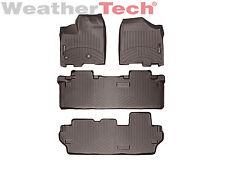 WeatherTech Floor Mats FloorLiner for Toyota Sienna - 2013-2019 - 8 Pass - Cocoa