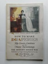 Singer Sewing Machine How to Make Draperies No 4 Book Guide Manual 1929