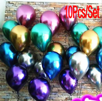 "10x 10"" Chrome Balloons Bouquet Birthday Party Decor Wedding Shiny /bw"