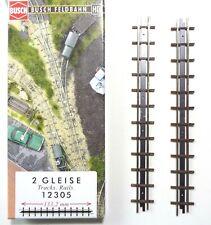 Busch 12305 Feldbahn H0f, 2 Stück Gerades Gleis 133,2 mm, Neu