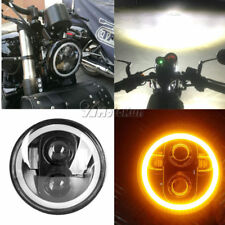 5.75 LED Daymaker Headlight Angle Eye Bulb For Harley Dyna Sportster XL 1200 883