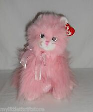 """2007 TY Classic Plush Pink Cat """"Jeweled"""" with Tags"""
