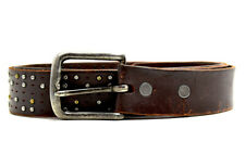 Vintage Mens Real Leather Belt Brown Size 40
