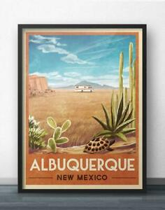 Breaking Bad RV Vintage Travel Poster of Albuquerque, New Mexico poster
