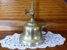 LAMPE A HUILE EN LAITON MARQUEE BREVETE FT S.G.D.G.
