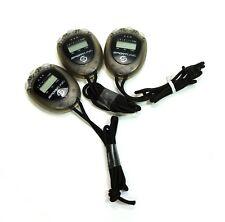 Sportline 240 Econosport Stopwatch Black case Clock - Alarm - Date - Lap -Split